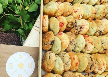 Patisserie lyon, mini cookies, livraison de pâtisserie pour professionnels de la restauration, patisserie artisanale, dessert lyon, fabricant de dessert lyon, cookies, Anais Cookies & Cie